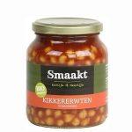Biologische Kikkererwten in Tomatensaus - Smaakt 370 ml pot